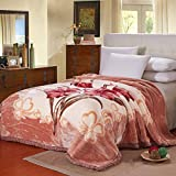 YUMUO Cotton Blanket, Ultra-Soft Plush Twin Size All Season Light Weight,Wrinkle-Resistant Blanket Soogan for Home Bedroom-c (79x91inch 11lb)