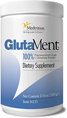 Pure pharma Grade L-Glutamine Powder 10 Gram Scoop 50 Serving jar GlutaMent