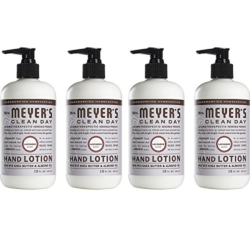 - Mrs. Meyer's Clean Day Hand Lotion, Lavender, 12 oz, 4-Pack