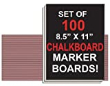 NEOPlex Student Laptop Chalkboard Marker Boards - Set of 100