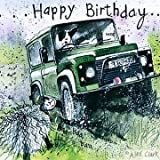 "LAND ROVER DEFENDER ""OFF ROADING"" BIRTHDAY CARD by ALEX CLARK"