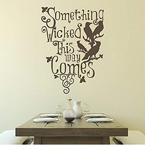 Vinyl Wall Decal Ravens Halloween Horror Room Art