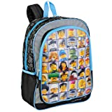 "LEGO ""Mini Figures"" 3D Lenticular 16"" Children's School Backpack"