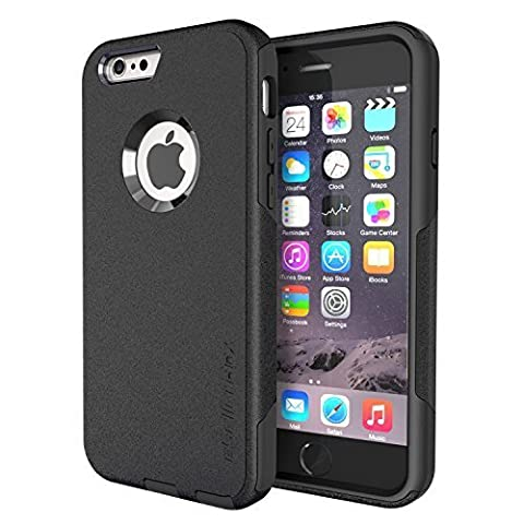 iPhone 6S Case,iPhone 6 Case By eSellerBox Heavy Duty Armor Full body Rugged Hybrid Daul-Layer Shock-Absorption Anti-Scratch Drops and Bumps Protection Durable Defense Case Cover (Iphone 6 Case Armor Rugged Black)