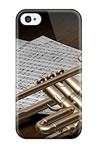 Awesome Case Cover/iphone 4/4s Defender Case Cover(trumpet D Design Music)