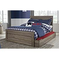 Javaron Contemporary Grayish Brown Full Trundle Bed