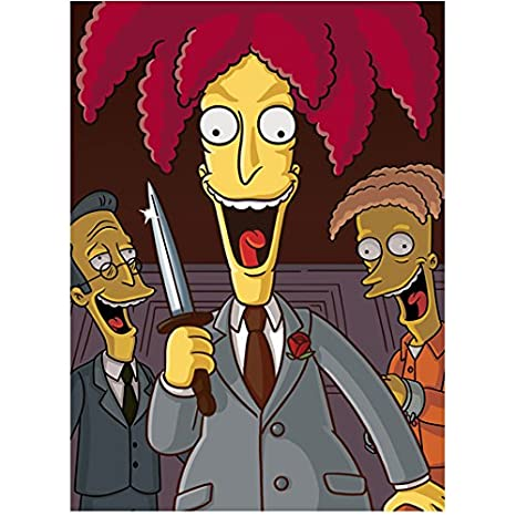 Kelsey Grammer As Sideshow Bob In The Simpsons 8 X 10 Inch Photo At
