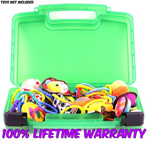Life Made Better Baby Toy Storage Organizer. Keep Your Baby's Toys In This Colorful Box. Stores Baby Rattles, Baby Maracas, Developmental Toys and Baby Gifts.