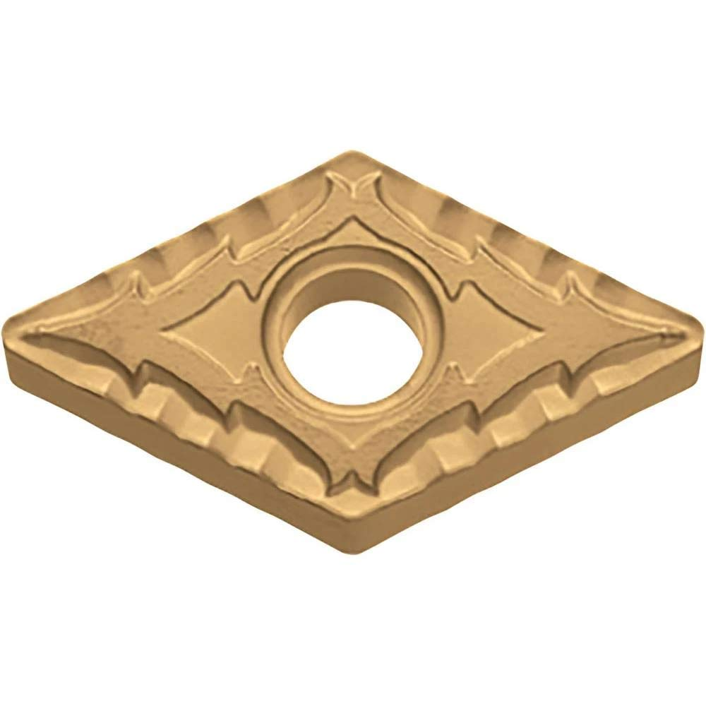 55 Degree Diamond 10 pcs Kyocera DNMG 431CQ CA5515 Grade CVD Carbide Negative Rake Angle Neutral Turning Insert for Light Interruption and Finishing-Medium in Steel