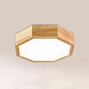 Ywyun Im Japanischen Stil LED Deckenleuchte Holz Oktogonalen Hauses Fr Ein Wohnzimmer Schlafzimmer