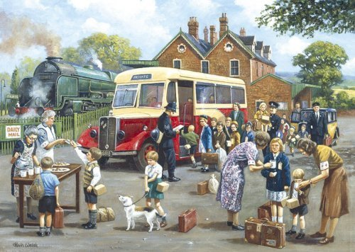 Gibsons The Evacuees 1000 Piece Puzzle by Gibsons Games