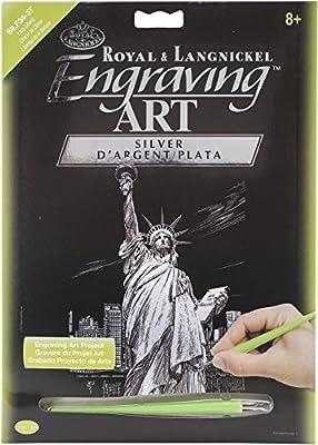 Royal Brush Silver Foil Engraving Art Kit, 8 by 10-Inch, Dragon Tower by ROYAL BRUSH