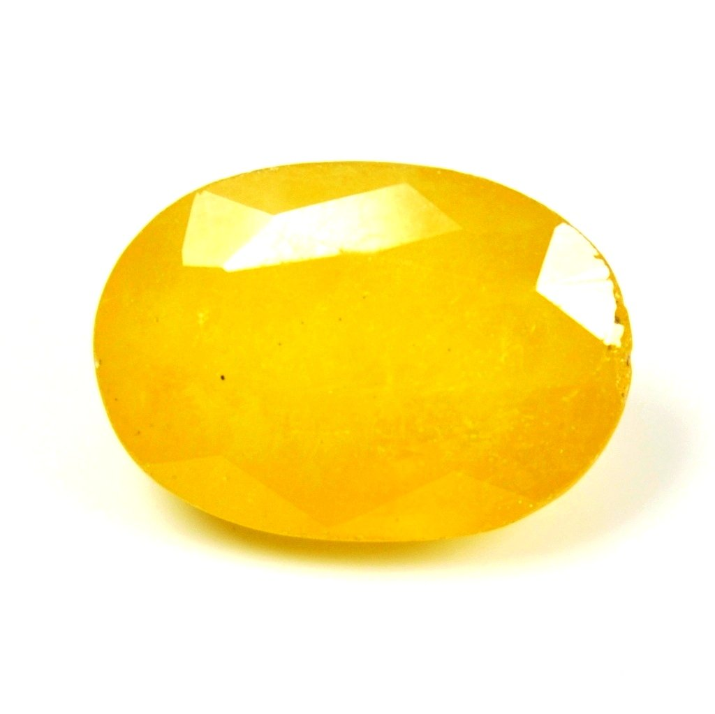 Natural Yellow Sapphire Loose Gemstone Faceted 3 Carat Oval Shape Chakra Healing September Birthstone A+