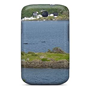 High Grade DonnaLConner Flexible Tpu Case For Galaxy S3 - Whales In The Tickle