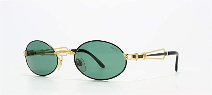 03 Col For Hilton 300 Vintage Oval Olympia Gold Sunglasses Men Black 2IYDHeWbE9