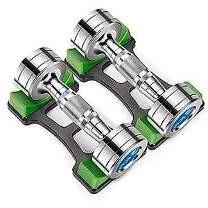 Steel Plating Dumbbells, Fitness Dumbbells Set, for Home Gym Work Out Training Suitable for Men and Women, 2.2Lb2