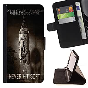 Dragon Case- Caja de la carpeta del caso en folio de cuero del tir¨®n de la cubierta protectora Shell FOR Samsung Galaxy Note 4 SM-N910 N910 IV- Never Hit Soft Boxing