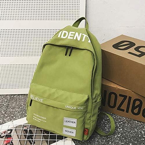 日本と韓国風の通学女子高校生新しいバックパックファッション中学生大学生バックパックトレンドシンプルな雰囲気がかわいいです (Color : Green)