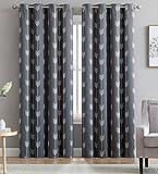 Best Room Windows - HLC.ME Arrow Printed Blackout Room Darkening Thermal Grommet Review
