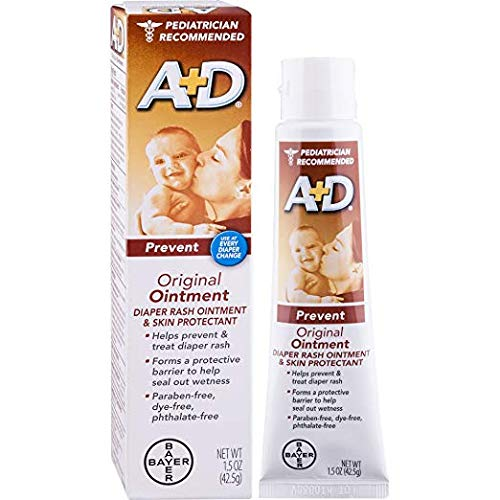A+D Original Diaper Rash Ointment, Skin Protectant, 8 Pack (4 Ounce Tube) Antioxidant-Rich