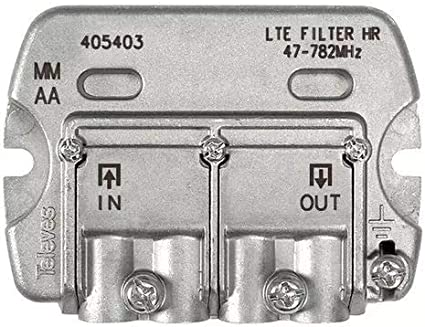 Televes - Filtro lte hr easyf 47-782mhz c21-59 dc