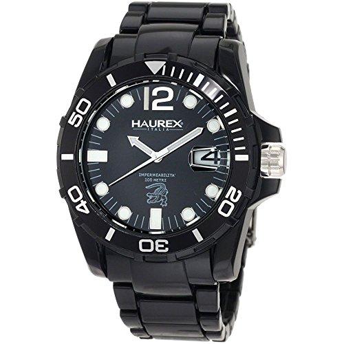 Haurex Italy Men's N7354UNN Caimano Date Black Dial Plastic Sport Watch by Haurex