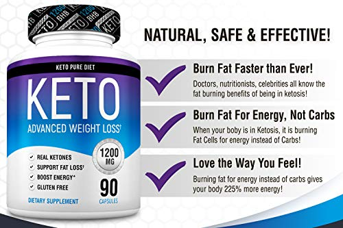 Keto Pure Diet Pills - Ketogenic Diet Supplement - Boost Energy and Metabolism - Keto Slim Supplement for Men and Women - 90 Capsules by Keto Pure Diet (Image #5)
