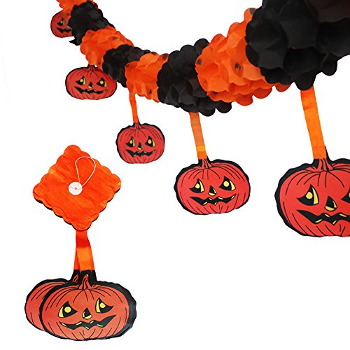 Awesomes Pumpkin Shape Paper 3M Halloween Garlands Decorations Ornament Party Pull Flowers Banners (Halloween pumpkin (Halloween Home Decorations Pinterest)