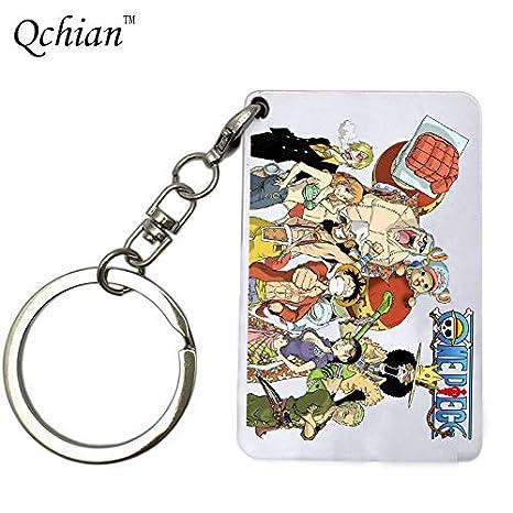 Amazon.com: AUDTEE Japanese Anime One Piece Luffy Keychain ...