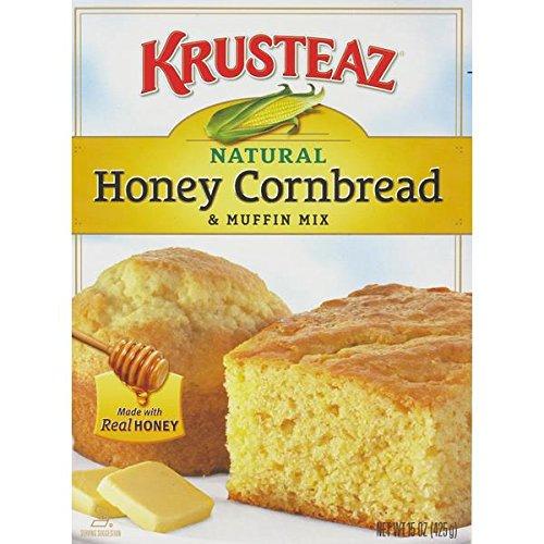 Krusteaz Honey Cornbread & Muffin Mix, 15 Ounce (Pack of 3) by Krusteaz