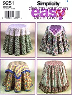 product image for Simplicity Design Your Own Easy Table Covers Sewing Pattern # 9251