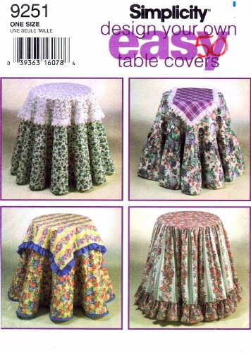 Amazon.com: Simplicity Design Your Own Easy Table Covers Sewing ...