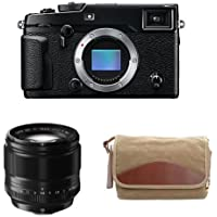 Fujifilm X-Pro2 Body Professional Mirrorless Camera (Black) + XF56mmF1.2 R + Domke F-5XB Camera Bag