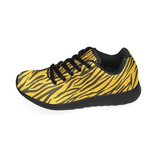 (D-Story Custom Yellow Zebra Stripes Women's Running Shoes (Model 020))