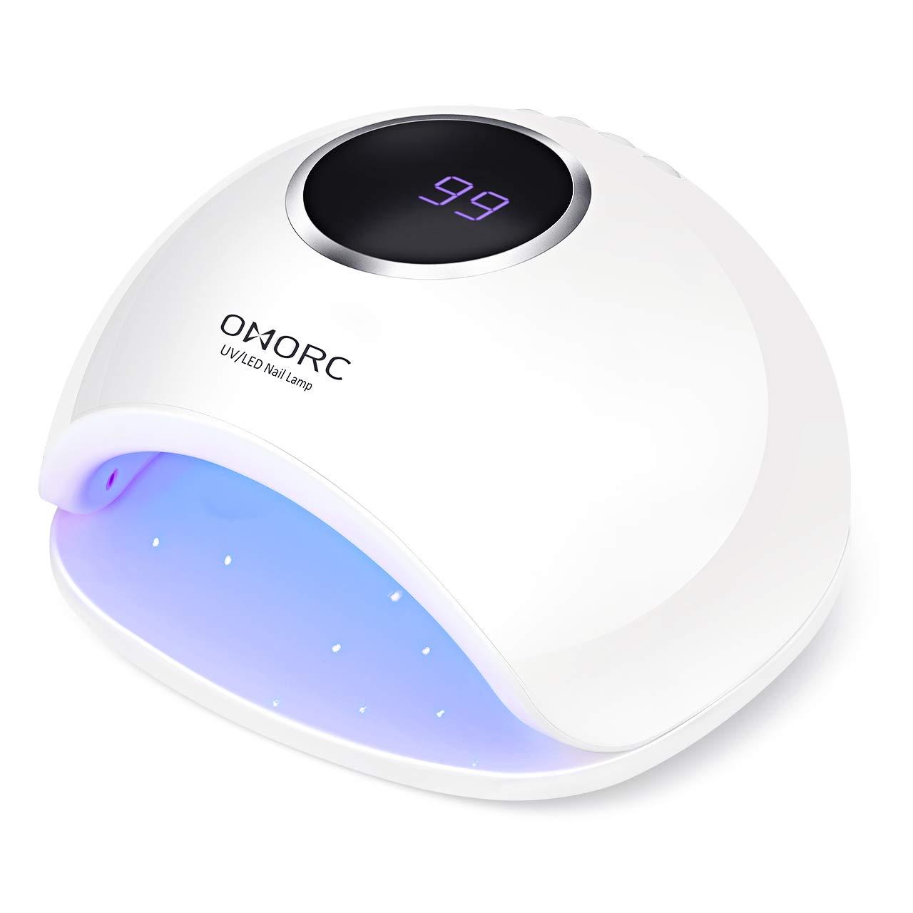 OMORC 48W Lampada Unghie UV LED per Manicure/Pedicure