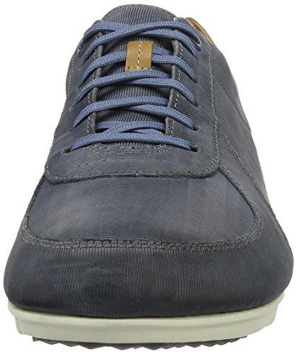 Clarks Triturn Race, Zapatillas para Hombre Azul (Denim Blue Lea)