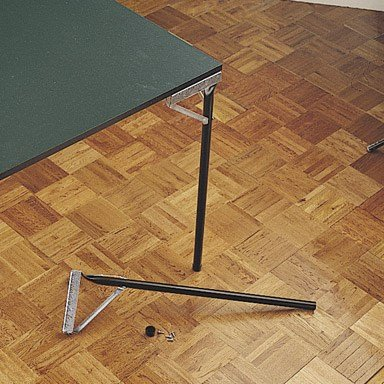 Waddell, Black GTL29 4 Count Enamel Folding Table Leg, 29""