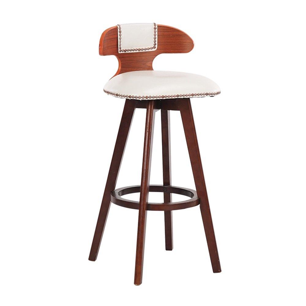 ZRX-カウンターチェア 高級ソリッドウッドバーチェアキッチン朝食椅子/ハイダイニングチェアレトロバースツール/背の高いスツールホワイト (色 : #1, サイズ さいず : 42×42×70cm) B07F3KY1HT 42×42×70cm|#1 #1 42×42×70cm