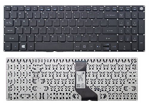 New Laptop Keyboard (Without Frame Non-backlit) for Acer TravelMate P277-M P277-MG P257-M P257-MG P258-M P258-MG US layout Black color (Acer Travelmate Keyboard)