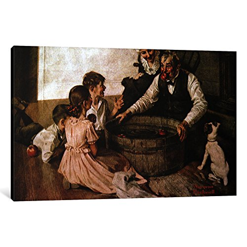 iCanvasART 1 Piece Valspar is Halloween-Proof Canvas Print by Norman Rockwell, 12 x 8/0.75
