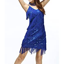 Whitewed Fringe Sequin Great 20's Gatsby Latin Dance Slip Flapper Dresses 2015 Collection