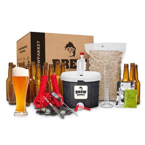 Brew Monkey Luxe Weizen bierbrouwpakket   bier brouwen in je eigen keuken   bierbrouw starterspakket   bier brouw pakket…