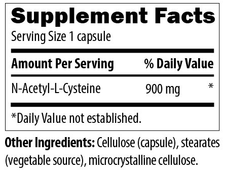 Designs for Health N Acetyl Cysteine Capsules, 120 Count