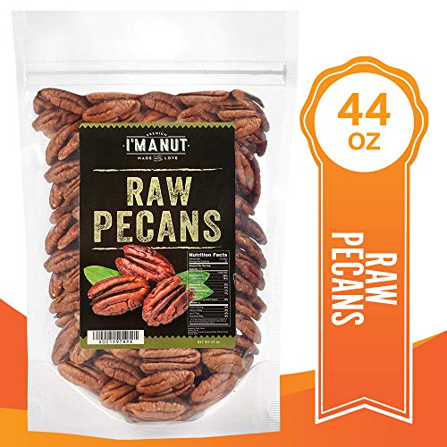 Raw Pecans Halves, 44oz(2.75 Pounds) Compares to Organic, NO PPO, Unpasteurized, 100% Natural, Extra Fancy, No Preservatives, Non-GMO, Un Salted Un Roasted Pecan Halves 2.75 ()