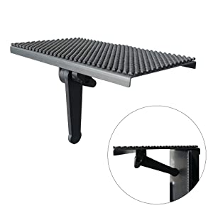 YOKEPO TV Top Shelf Mounting Bracket 8 Inch Flat Panel Mount Adjustable Mount on Monitors to Hold Cable Boxes, Apple TV, Camera, Streaming Devices, Media Boxes, Game Console and Home Decor, Black
