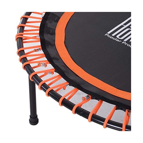 Homcom Trampoline de Fitness/Gymnastique Haute Performance Ø 102 cm élastiques Bungee Utilisation intérieure extérieure Orange Noir accessoires de fitness [tag]