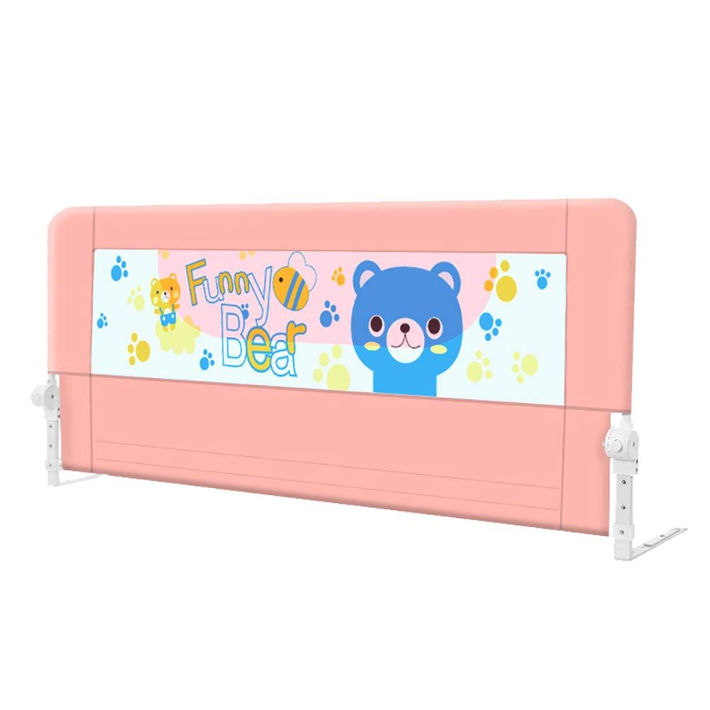 上等な ベビーベッドレールエクストラロングベッドガード安全落下防止ベッドレイルキッズ&幼児用クイーン&キングサイズベッド (色、1サイド、ブルー/ピンク/グレー (色 : 180cm : Pink, サイズ さいず : 180cm) 180cm Pink B07MS9P2P2, クロスリンク:9ee92c1d --- a0267596.xsph.ru