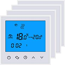 Control De La Temperatura De La Habitaci/ón Con Tel/éfono Inteligente Blanco,Blanco,230.00 V Beok TDS21WIFI-EP Termostato Digital Programable Para Calefacci/ón El/éctrica Debajo Del Piso