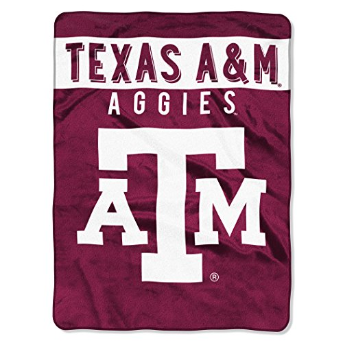 The Northwest Company Officially Licensed NCAA Texas A&M Aggies Basic Raschel Throw Blanket, 60