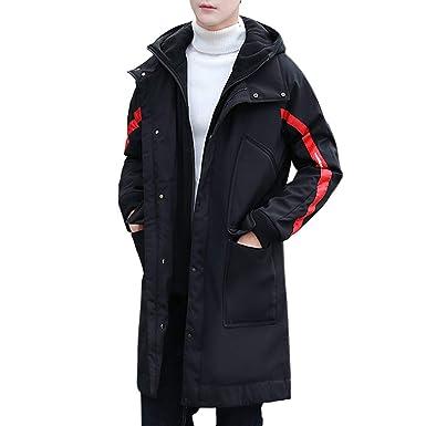 images officielles sortie en ligne style à la mode Manteau Homme Doudoune en Coton A Capuche Hiver Chaud Parka ...